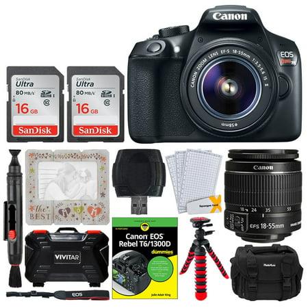 Canon EOS Rebel T6 Digital SLR Camera + EF-S 18-55mm f/3.5