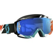Scott USA Hustle Cracked 2016 MX/Offroad Goggles Orange/Turquoise/Blue Chrome Lens