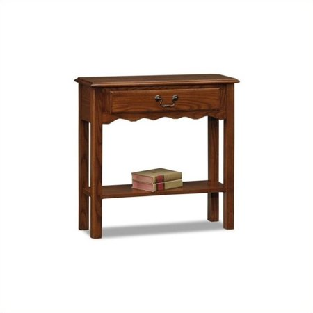 Bowery Hill Wave Console Table in Medium Oak ()
