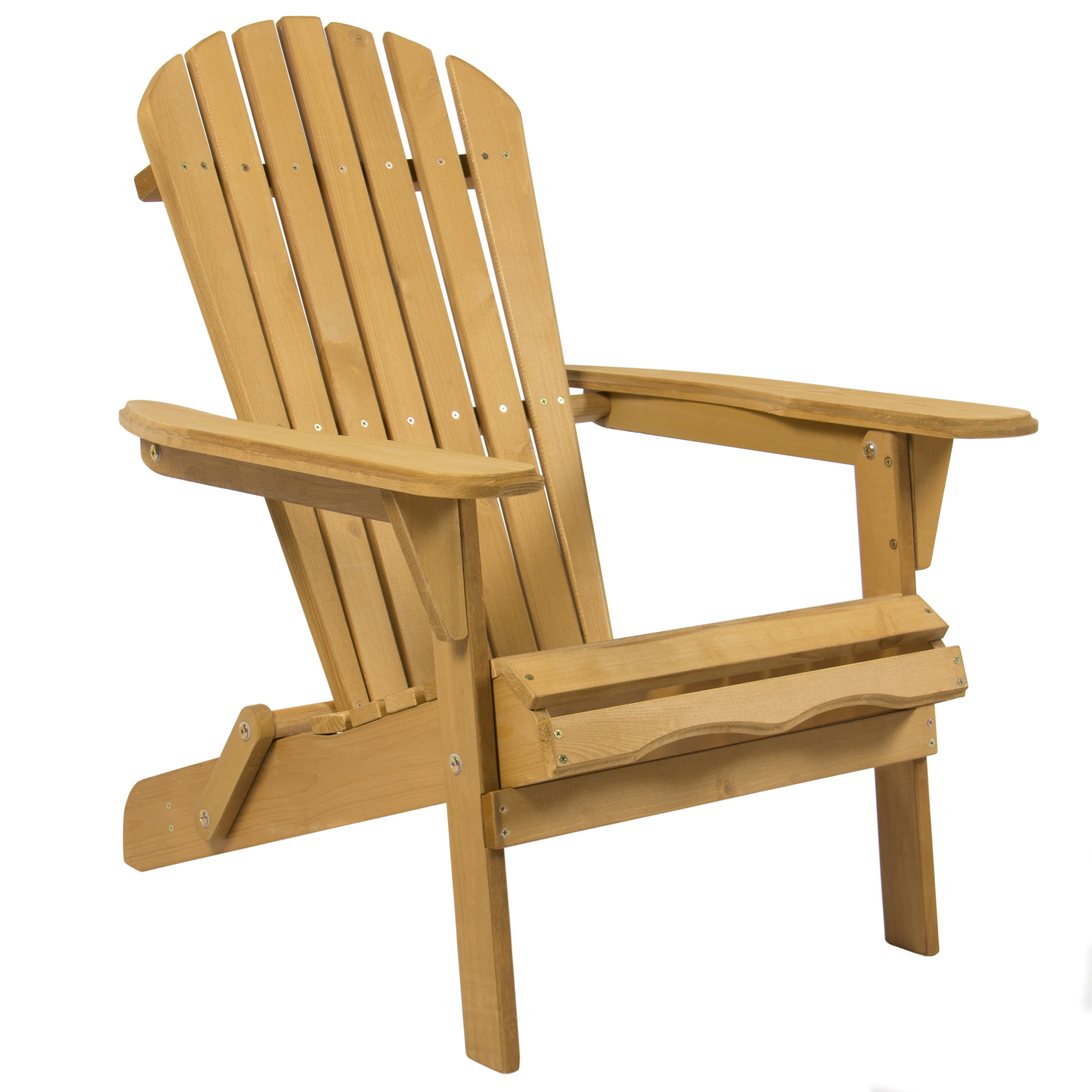 Best Choice Products Outdoor Adirondack Wood Chair Foldable Patio Lawn Deck  Garden Furniture   Walmart.com