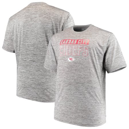 c7b0fdb0 Men's Majestic Heathered Gray Kansas City Chiefs Big & Tall Last Chance Ply  Reflective T-Shirt