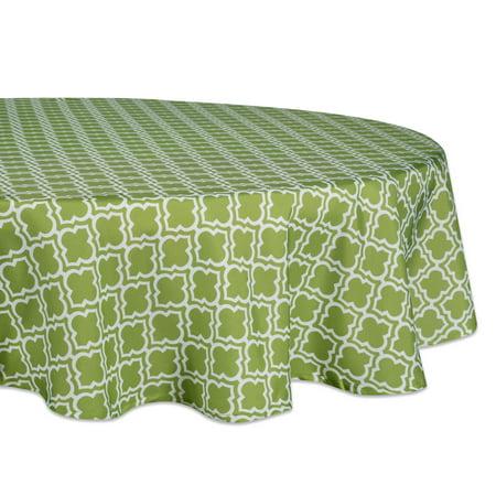 DII Green Lattice Outdoor Tablecloth 60