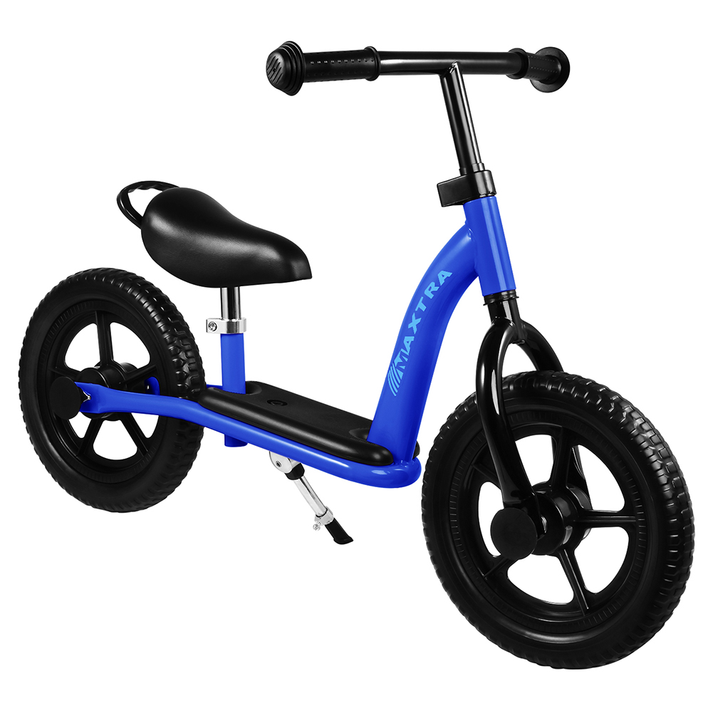 """Maxtra 12"""" Ride and Glide Balance Bike Lightweight Adjustable Training Footrest Push Bicycle for Ages 2 to 7 w/ Gift Inner Box, Bes Gift for Kids"""