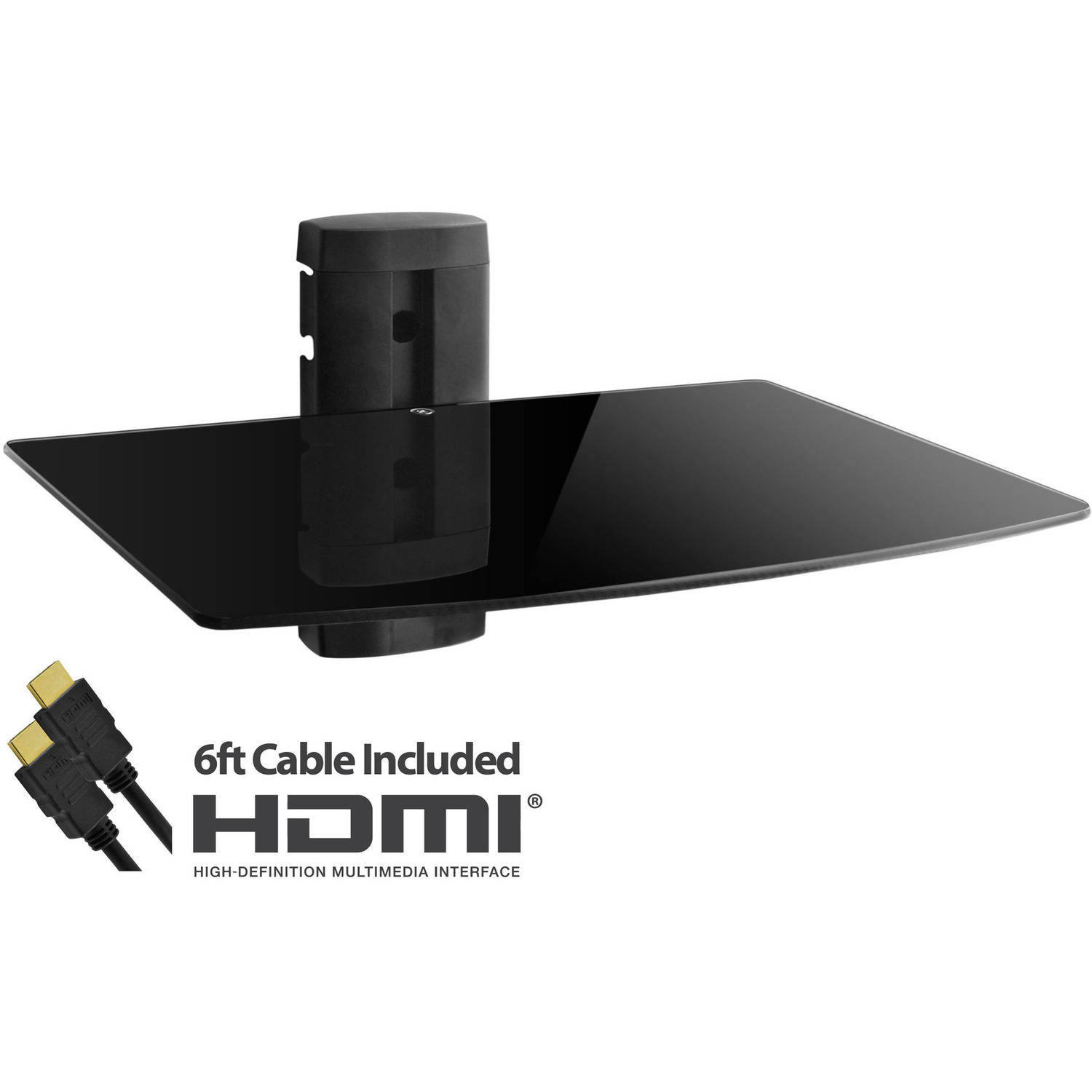 Adjustable Shelf for DVD Players, Cable Boxes/Receivers, and Gaming Consoles with HDMI Cable (UL Certified)
