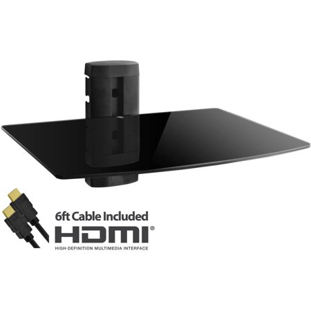 Adjustable Shelf For Dvd Player  Cable Box Receiver And Gaming Consoles With Hdmi Cable  Ul Certified