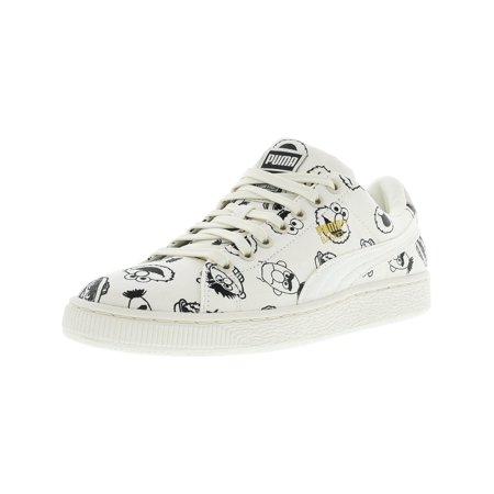 wholesale dealer 3efbd 60c4b Puma Men's X Sesame Street Basket Whisper White Ankle-High Fashion Sneaker  - 7.5M