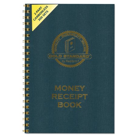 rediform money receipt book 7 x 2 3 4 carbonless duplicate twin