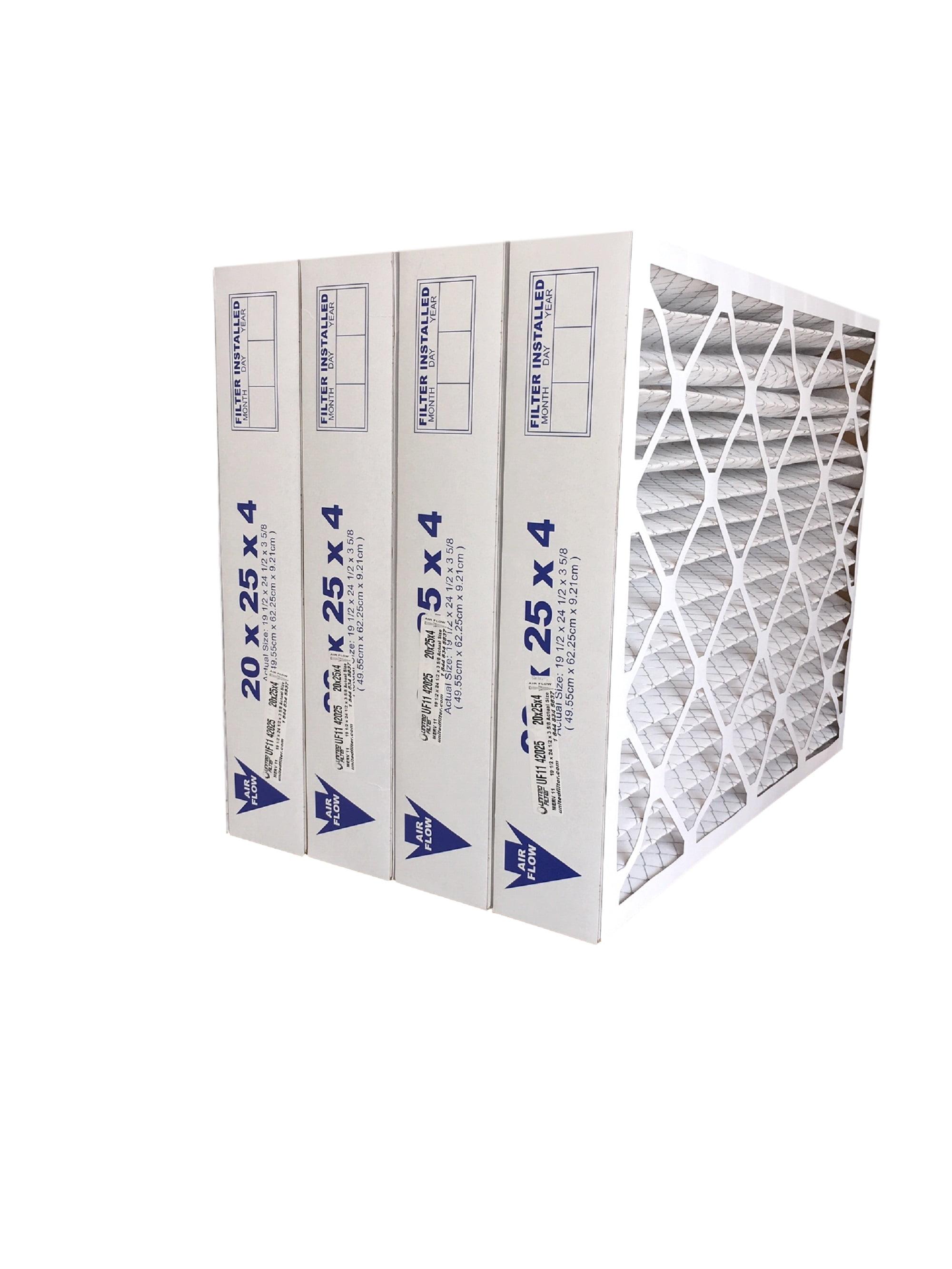 6 Pack 16 x 20 x 4 Merv 11 Furnace Filter