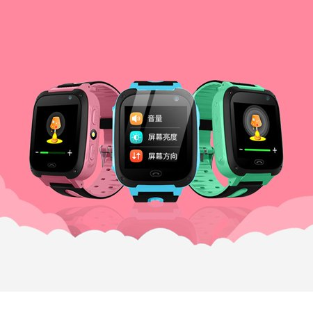 S4 LBS Positioning LED Flashlight Touch Screen Children Smart Watches Remote Control Photograghing Kids Wristwach - image 9 de 9