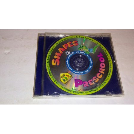 School Zone Shapes Preschool PC CD-ROM kids early learning matching track game! ()