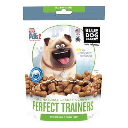 (2 Pack) Blue Dog Bakery Healthy Treats for Dogs Perfect Trainers Grilled Chicken & Cheese Flavor, 6 oz