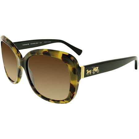 a5b959ddd27 Coach - Coach Women s HC8158-532413-58 Brown Butterfly Sunglasses -  Walmart.com