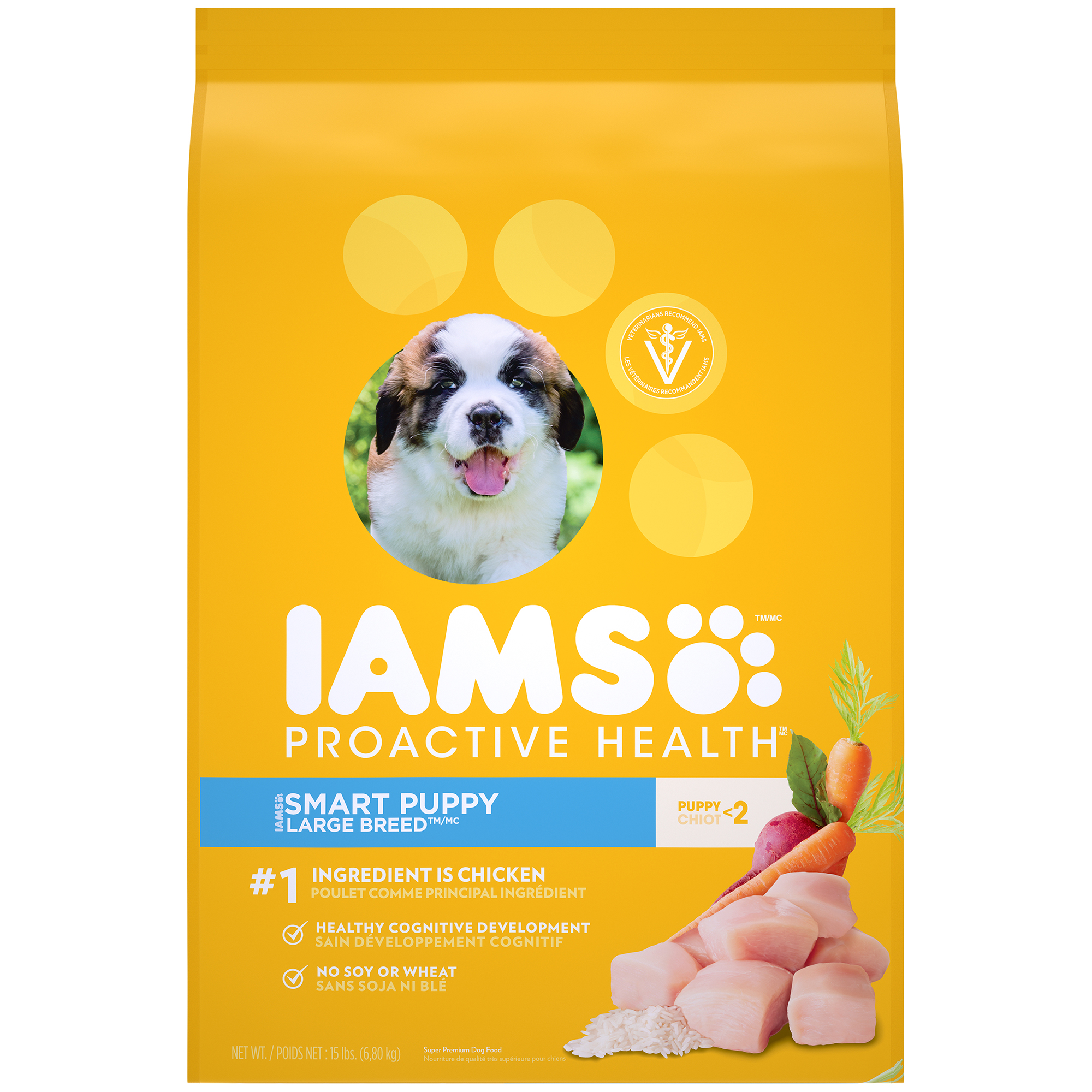 IAMS PROACTIVE HEALTH Smart Puppy Large Breed Dry Puppy Food 15 Pounds by Mars Petcare