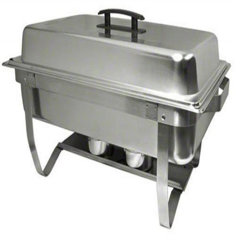Update International ESFC-21 Easy Store Mirror Polish Chafer with Folding Stand, Rectangular, 8-Quart