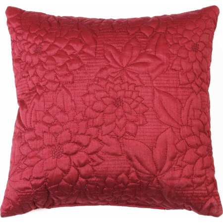 Works Gardenia - Belle Maison Gardenia Embroidered Quilted Decorative Pillow