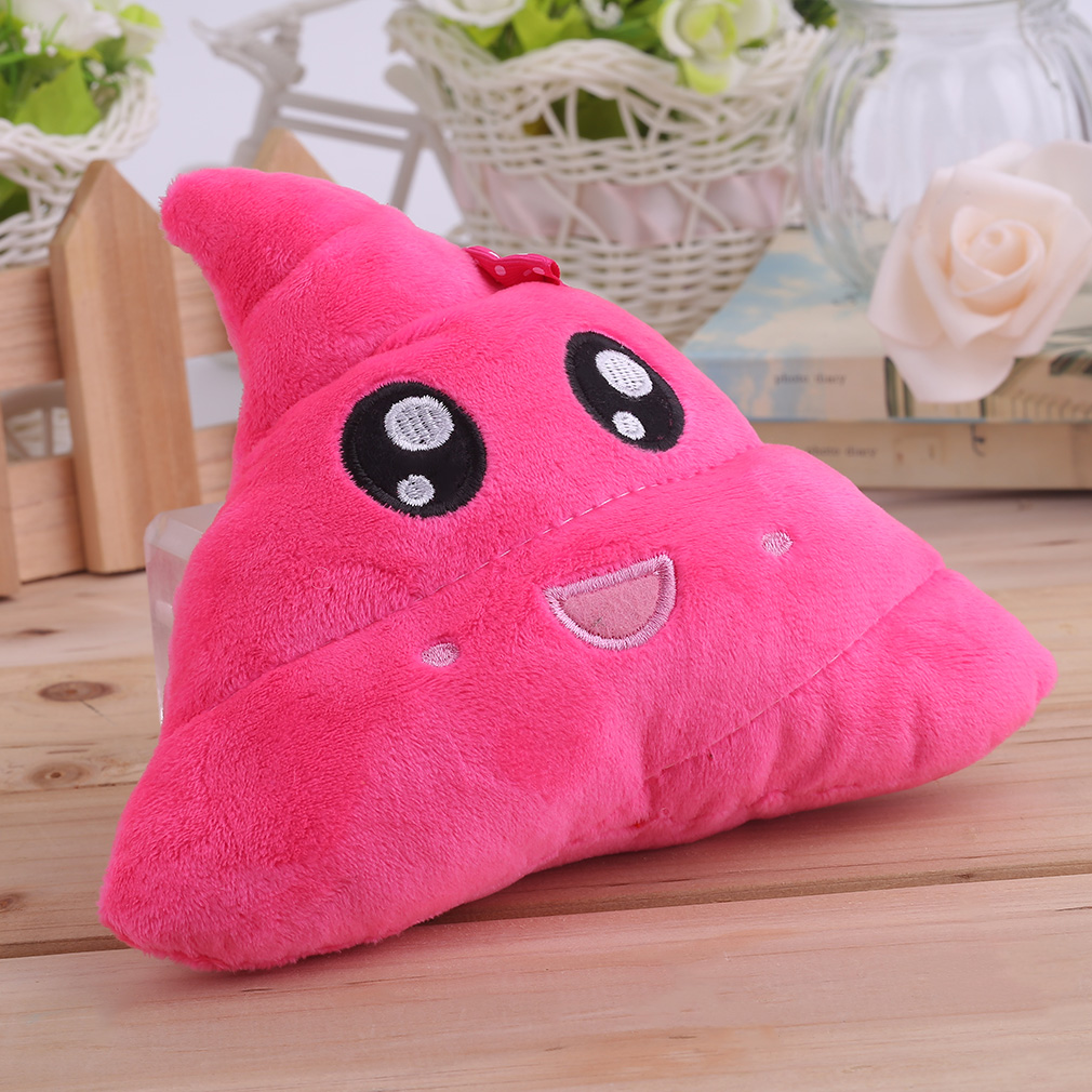 Soft Plush Personality Amusing Emoji Emoticon Cushion Heart Eyes Poo Shape Multicolor Pillow Doll Toy Gift