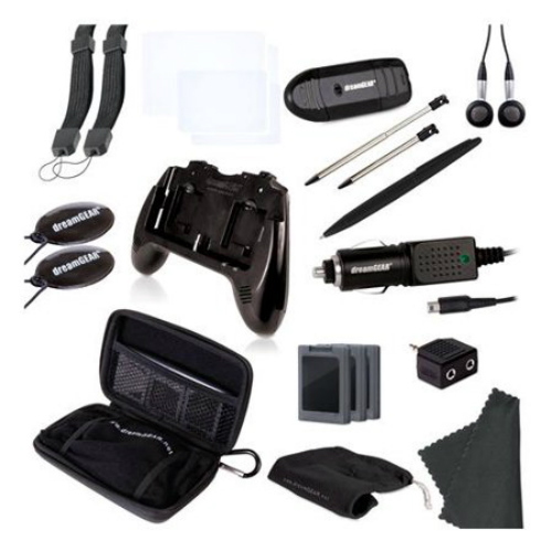 dreamGEAR Nintendo 3DS 20-in-1 Essentials Kit - Black dreamGEAR Nintendo 3DS 20-in-1 Essentials Kit - Black