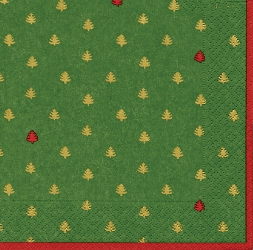 Paper Napkins 10170L Tiny Trees Green Lunch Napkins