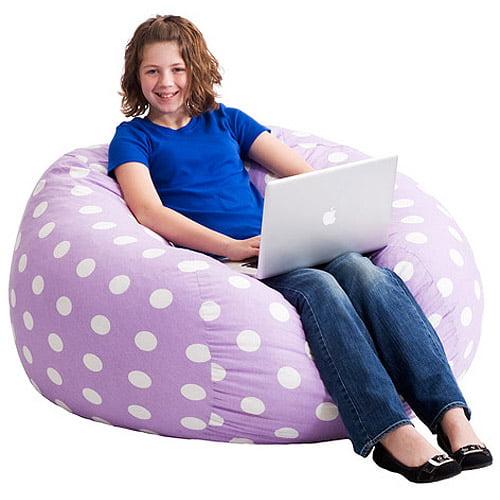 Large 4' Fuf Bean Bag Chair, Multiple Colors