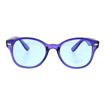 Color Suger Candy Womens Retro Hippie Horn Rim Sunglasses Dark (Sunglasses Candy Color)