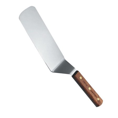 Dexter-Russell Traditional Solid Cake Turner, Stainless Steel Blade, Rosewood Handle, Brass Rivets, 13