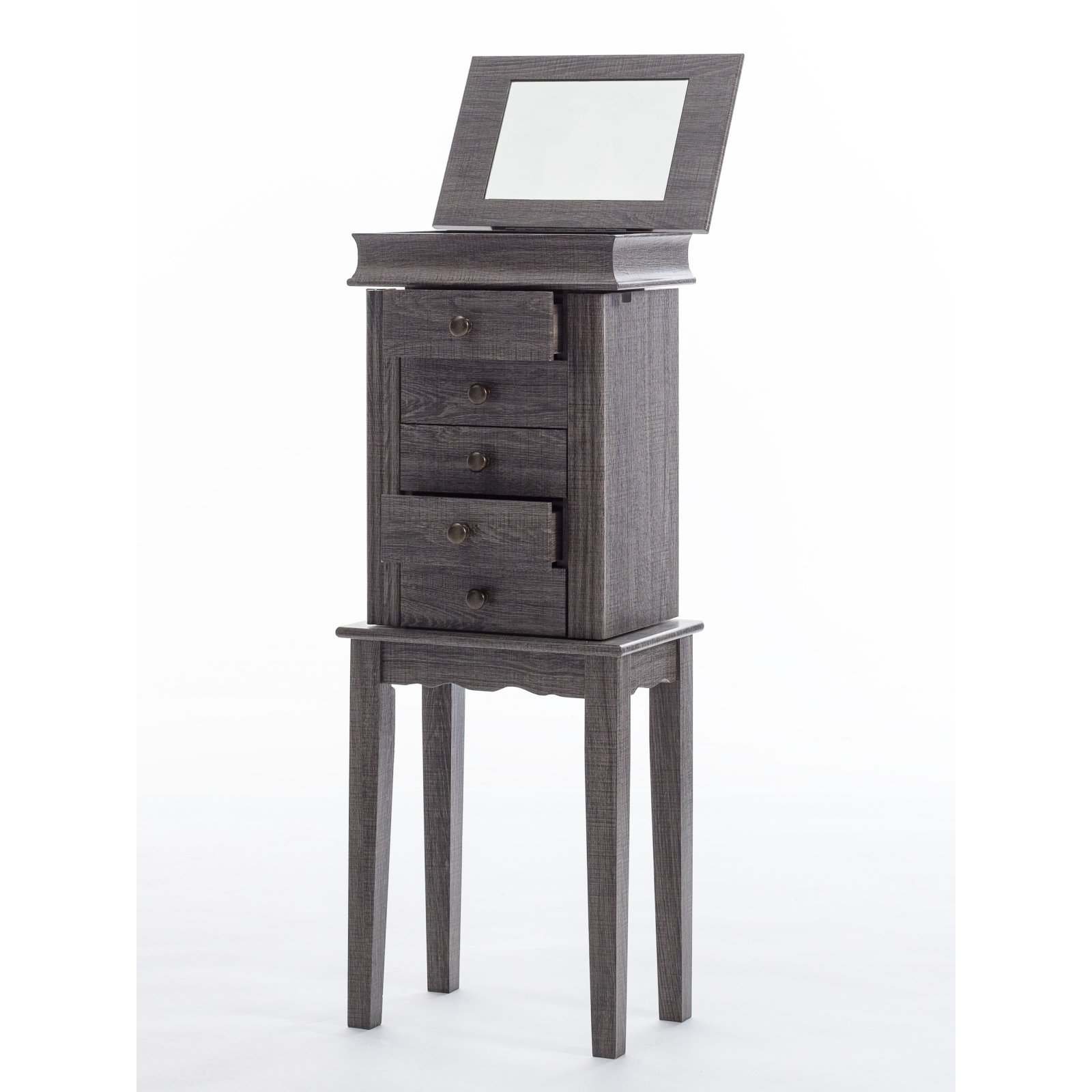 bdf69c50d Mainstays Small Space Jewelry Armoire - Weathered Gray - Walmart.com