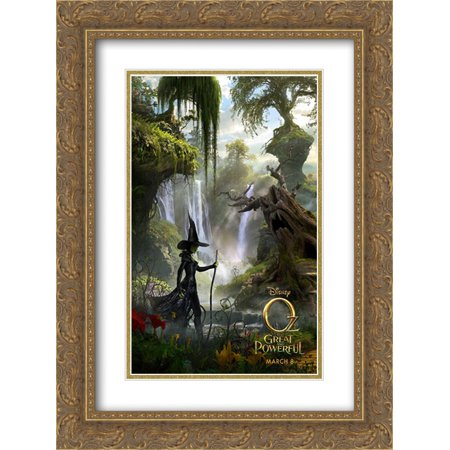 Oz The Great and Powerful 18x24 Double Matted Gold Ornate Framed Movie Poster Art