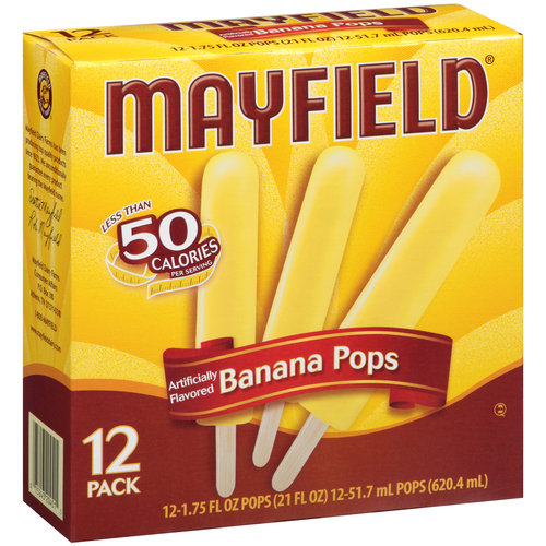 Mayfield Banana Pops Frozen Dessert, 1 75 fl oz, 12 count