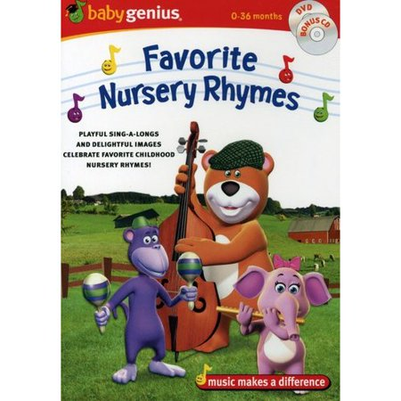Baby Genius Favorite Nursery Rhymes Dvd Cd