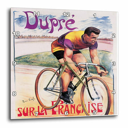 3dRose Vintage Dupre Sur La Francaise Bicycles Advertising Poster, Wall Clock, 13 by 13-inch