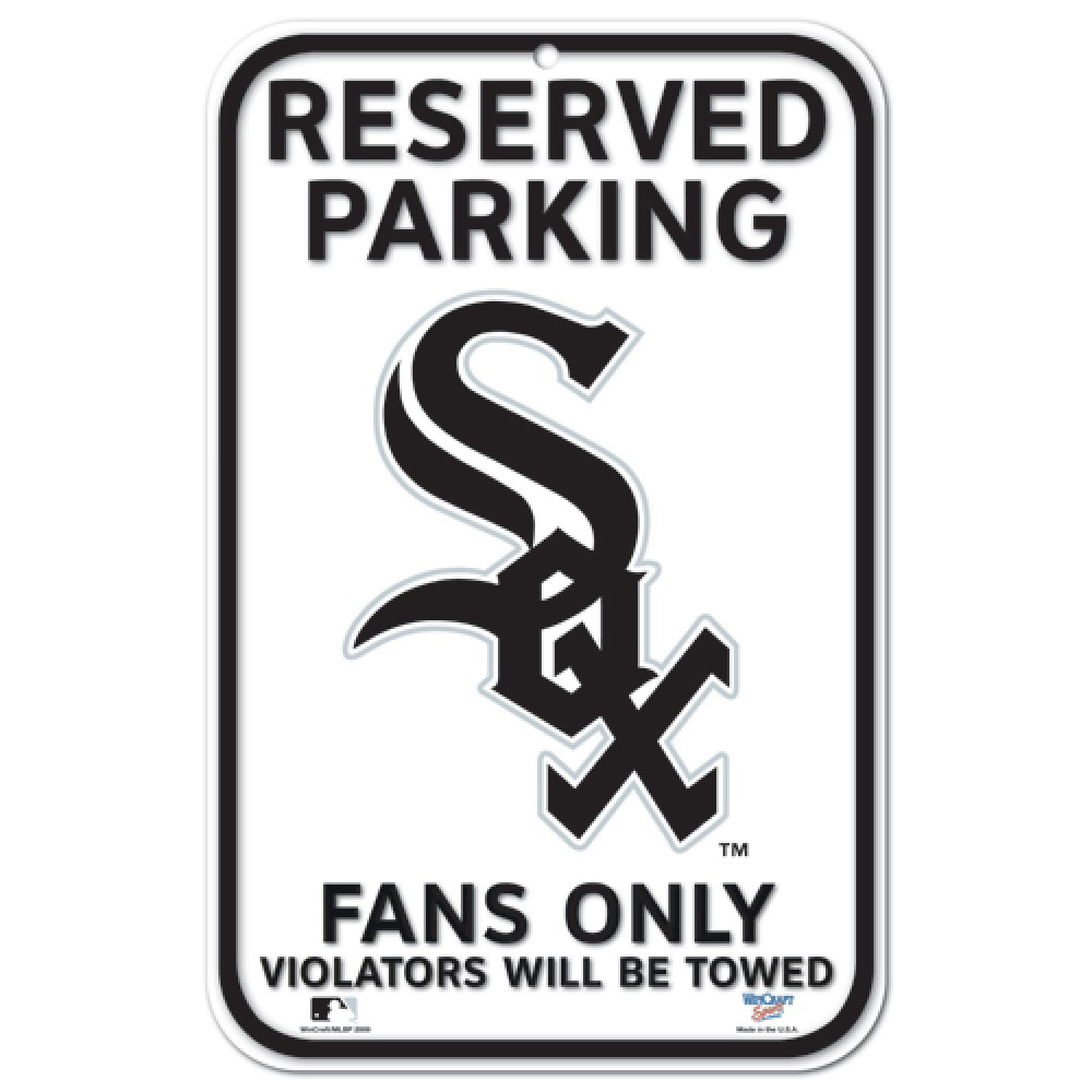"Chicago White Sox WinCraft 11"" x 17"" Plastic Sign - No Size"