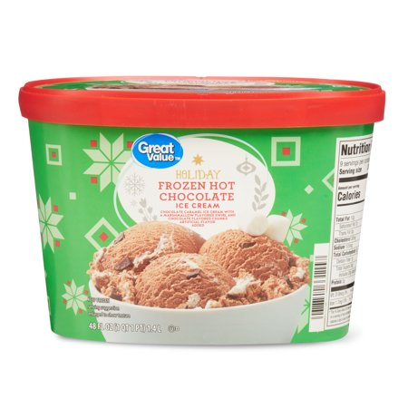 Great Value Holiday Frozen Hot Chocolate Ice Cream, 48 fl oz