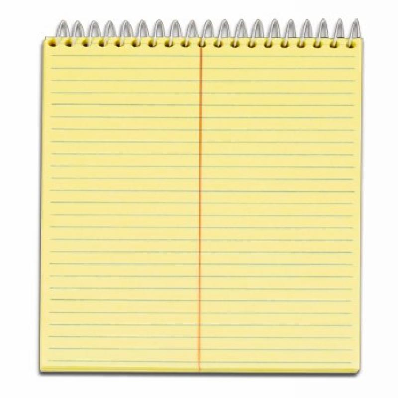 TOPS Docket Steno Pad, 9.5 x 6 Inches, Gregg Rule, 144 Sheets, Canary (99617)