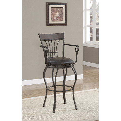 American Heritage Trinity 30'' Swivel Bar Stool with Cushion