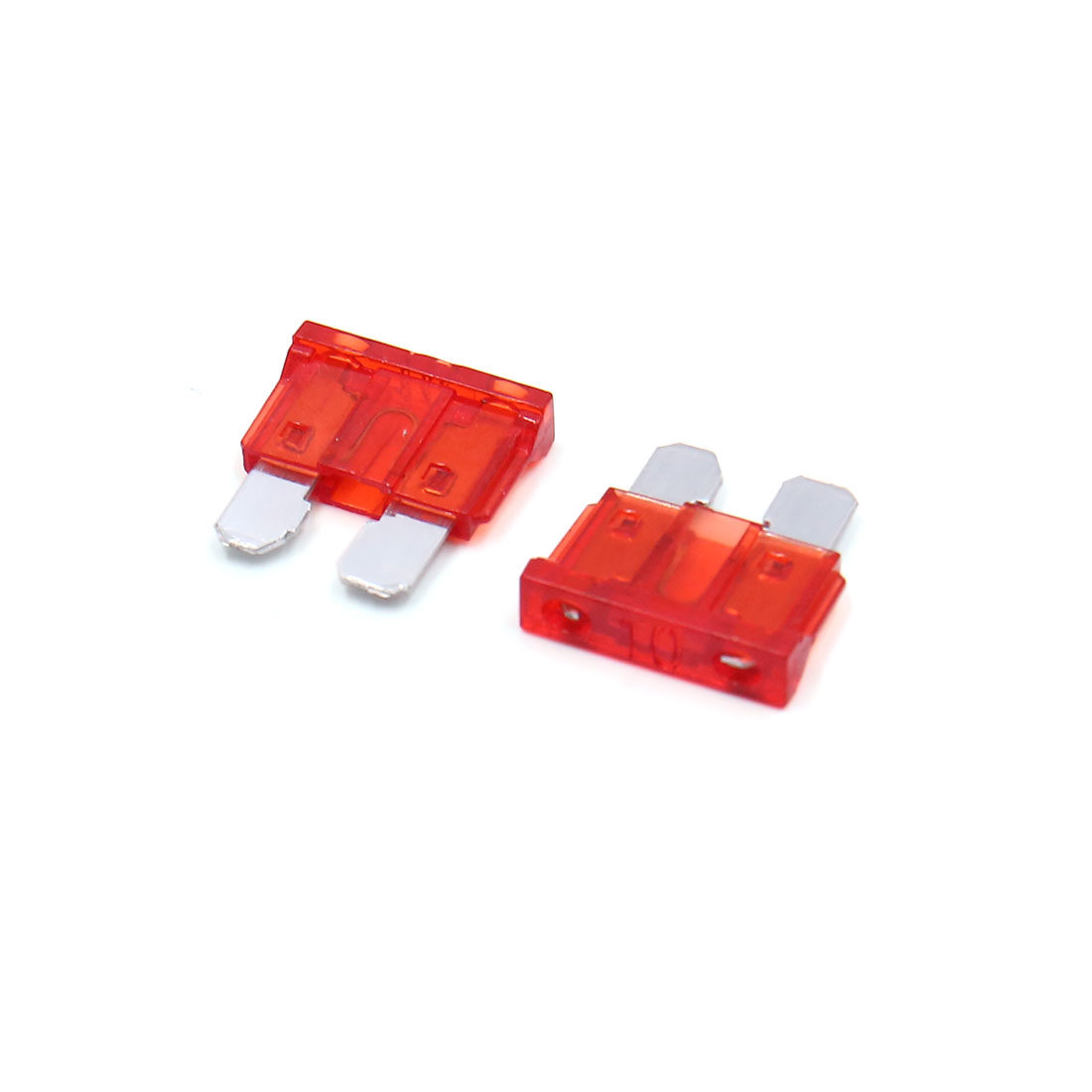 100Pc 10A Bo te Plast Rouge Style Lame Moyenne Fusible Moto Véhicule - image 1 de 2