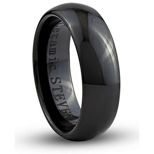 Doma Jewellery SSCER00111.5 Ceramic Ring 7 mm. Wide, Size 11.5