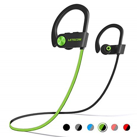 Letscom Bluetooth Headphones Ipx7 Waterproof Wireless Sport Earphones Bluetooth 4 1 Hifi Bass Stereo Sweatproof Earbuds W Mic Noise Cancelling Headset For Workout Running Gym 8 Hours Play Time Walmart Com Walmart Com