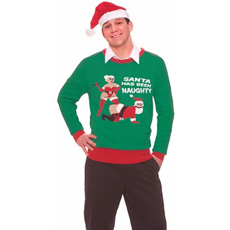 Inappropriate Funny Ugly Christmas Sweater Santa Has Been Naughty