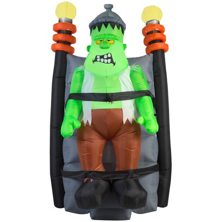 6' Airblown Short Circuit Shaking Monster Halloween Inflatable (Clearance Halloween Inflatables)