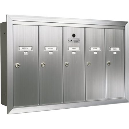Auth Florence Recessed Vertical 6 Compartment Mailbox