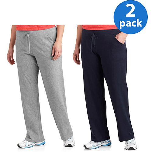 Danskin Now Women's Plus-Size Dri-More Relaxed Fit Workout Pants, 2-Pack Value Bundle