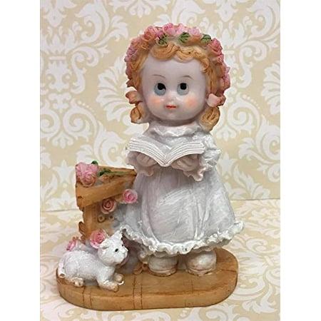 First Holy Communion Praying Girl Cake Topper Figurine Decoration](First Holy Communion Decorations)