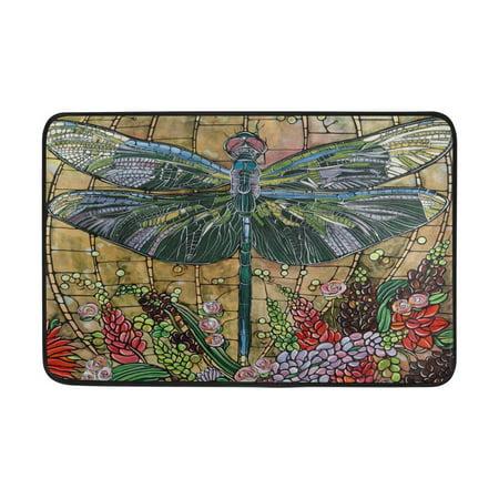 POPCreation Dragonfly Non-Slip Floor Mat Doormats for Living Room Bedroom 23.6x15.7 inches