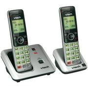 VTech, VTECS66192, 2 Handset Cordless Phone with Caller ID/Call Waiting, 2, Black,Silver