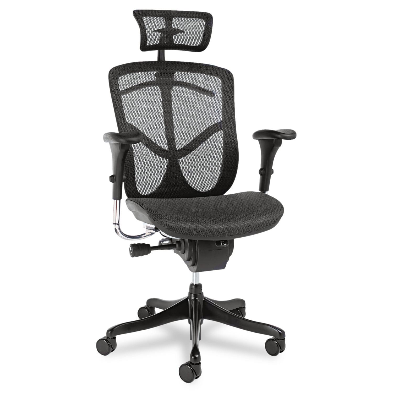 Alera Alera EQ Series Ergonomic Multifunction High-Back Mesh Chair, Aluminum Base by ALERA