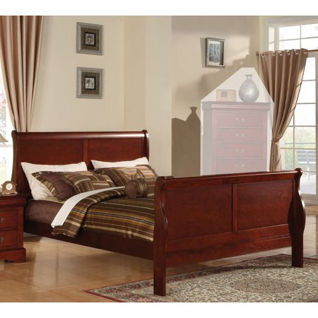 Simple Relax 1perfectchoice Louis Philippe Cherry Eastern King Sleigh Bed