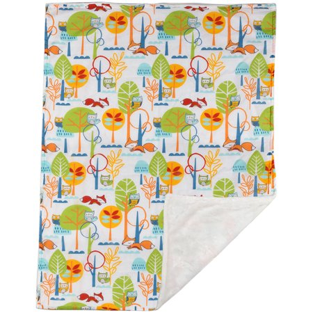 Poppi Living Forest Reversible Stroller Blanket