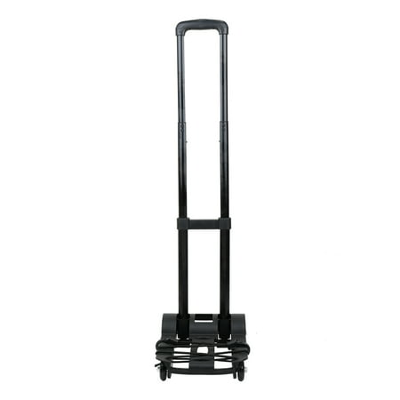 Foldable Trolley (Portable Foldable Luggage Shopping Travel Cart Flatbed Trailer Trolley Barrow with Black Pull Rod )