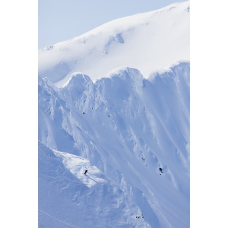 Backcountry Skiing In The Chugach Mountains In Late Winter Southcentral Alaska United States Of America Canvas Art - Scott Dickerson  Design Pics (12 x (Backcountry Cross Country Skiing)
