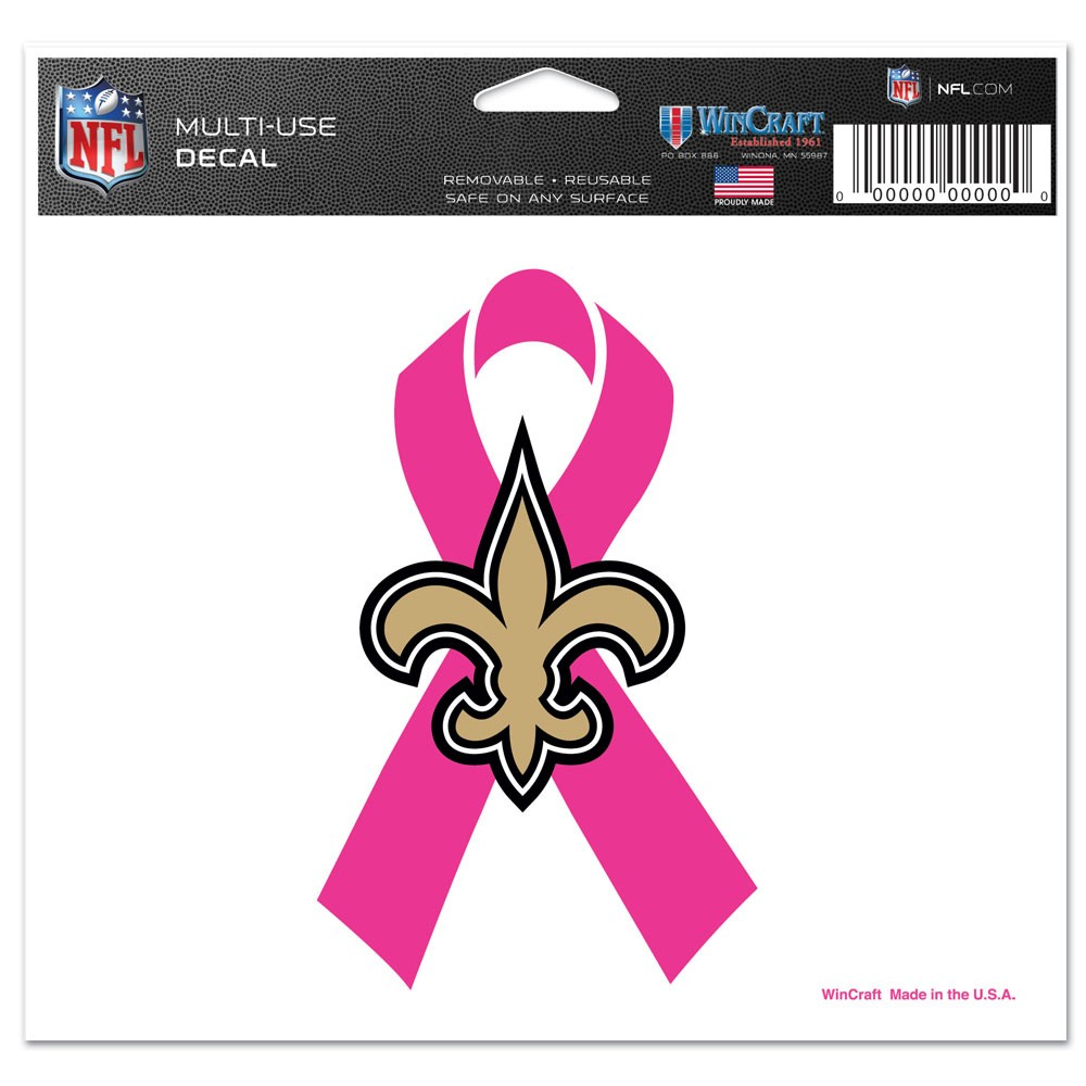 New Orleans Saints Official NFL 4 inch x 6 inch  Car Window Cling Decal by Wincraft